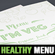 Healthy Food Restaurant Menu Template - GraphicRiver Item for Sale
