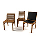 Wood Chair Design - 3DOcean Item for Sale
