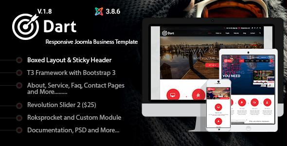 Dart – Responsive Corporate Joomla Business Template