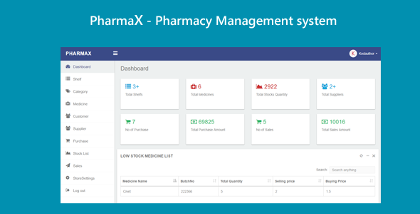 PharmaX - Pharmacy management System C# ASP.NET MVC