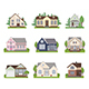 Set of Cottage House Icons - GraphicRiver Item for Sale