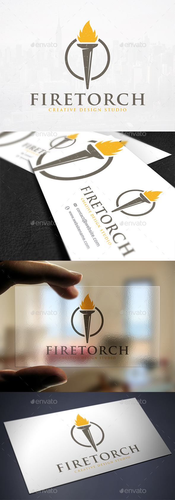 Torch Light Logo Template