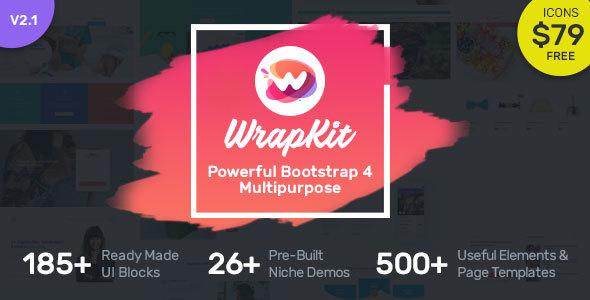 WrapKit - Bootstrap 4 Multipurpose Template
