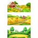 Landscape Panorama Set - GraphicRiver Item for Sale