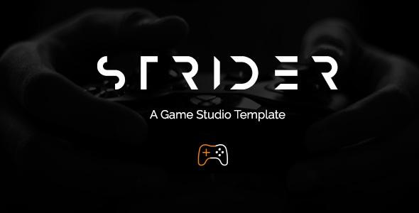 Strider - A Game Studio Template (HTML)
