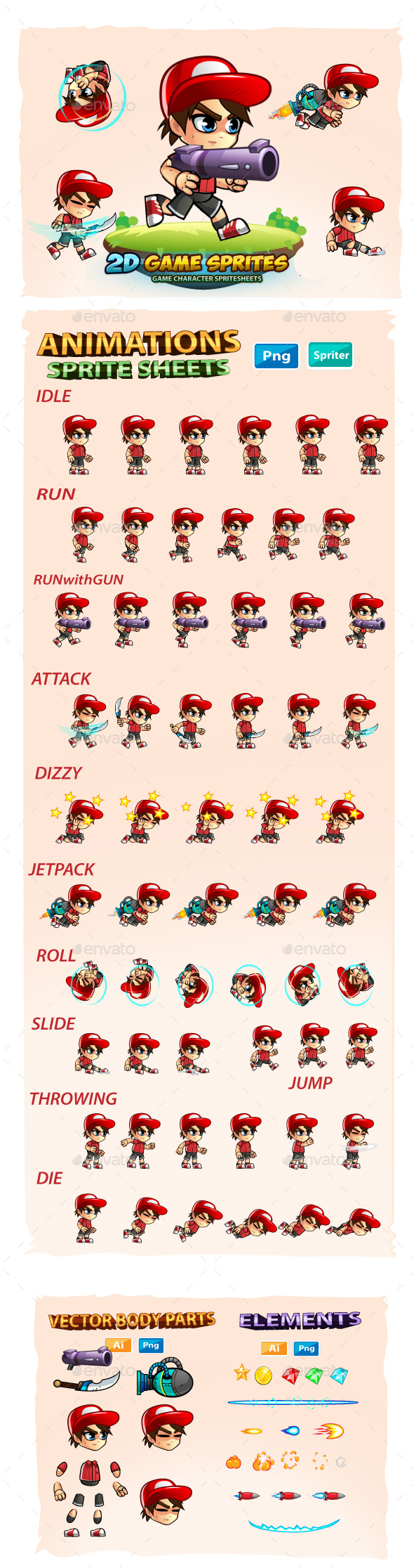 2D Game Character Sprites Cracked Graphicriver (4 73 MB
