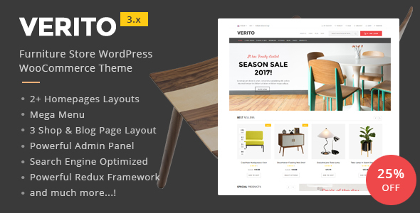 Verito - Furniture Store WooCommerce WordPress Theme