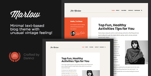 Marlow - Distinctive, Typography-First WordPress Blog Theme