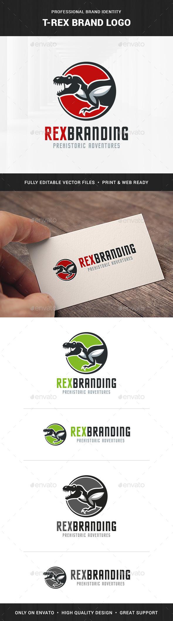T-Rex Brand Logo Template