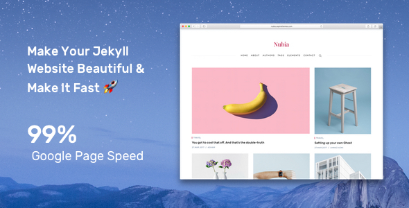 Nubia - Minimal Blog and Magazine Jekyll Theme