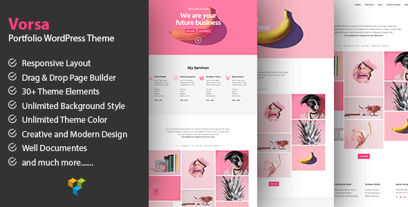 Vorsa - Portfolio & Agency WordPress Theme 18