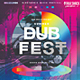 Dub Fest Summer Experimental Poster - GraphicRiver Item for Sale