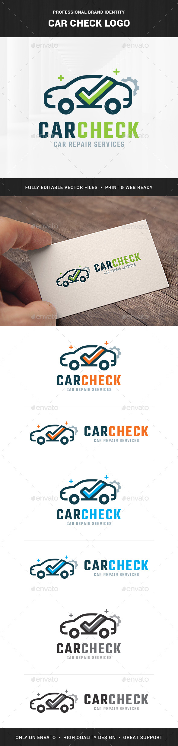 Car Check Logo Template