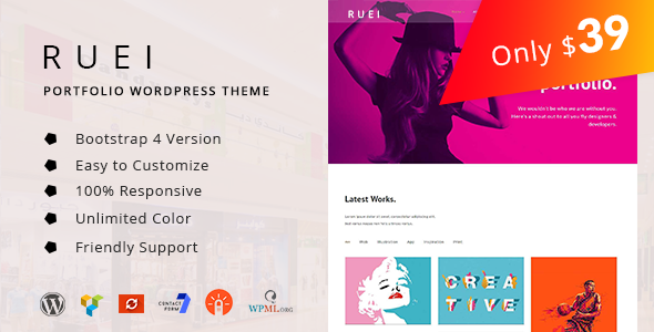 Ruei - Creative Portfolio WordPress Theme