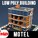 Low Poly Motel Building - HOTEL - 3DOcean Item for Sale