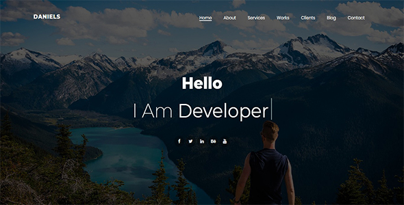 Download Daniels – One Page Portfolio Nulled
