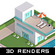 3D Isometric Real Estate Concepts - GraphicRiver Item for Sale