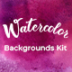 Watercolor Backgrounds Kit - GraphicRiver Item for Sale