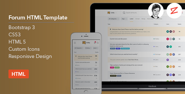 Forum HTML Template