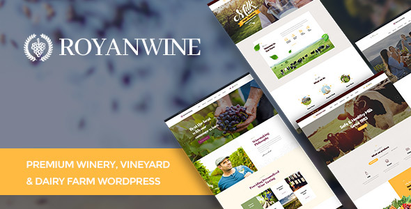 Royanwine - Wine store & Dairy Farm WordPress Theme