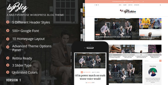 Byblog - Responsive WordPress Blog Theme