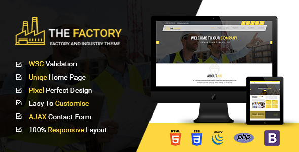 The Factory – Construction, Factory and Industry HTML5 Template