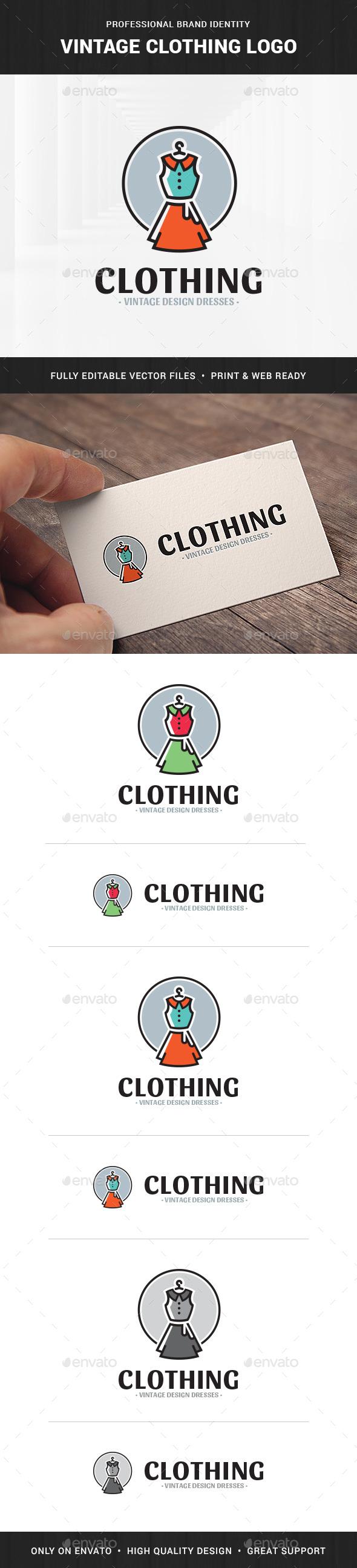 Vintage Clothing Logo Template
