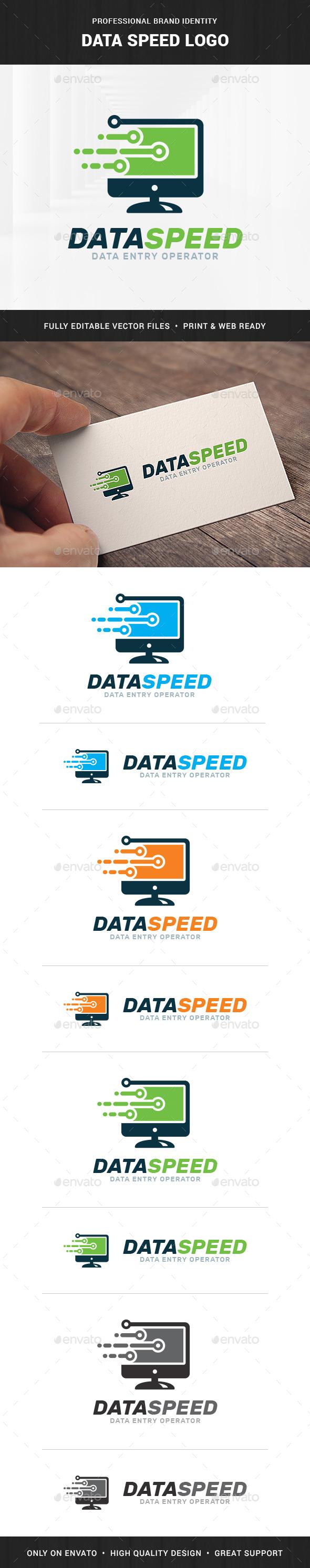 Data Speed Logo Template