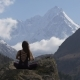Meditation in Front of Snow-capped Peaks - VideoHive Item for Sale