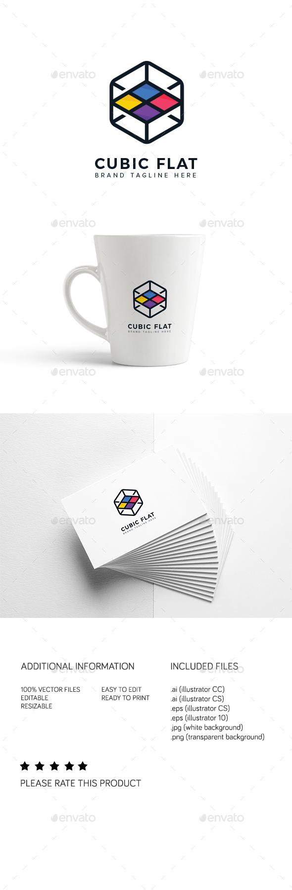 Cubic Flat Logo