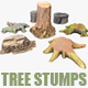 7 TREE STUMPS - 3DOcean Item for Sale