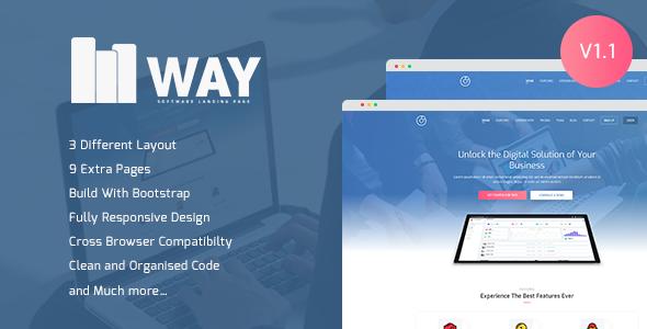 Way - Software Landing Page