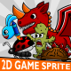5 Enemy Monsters 2D Game Character Sprite - GraphicRiver Item for Sale