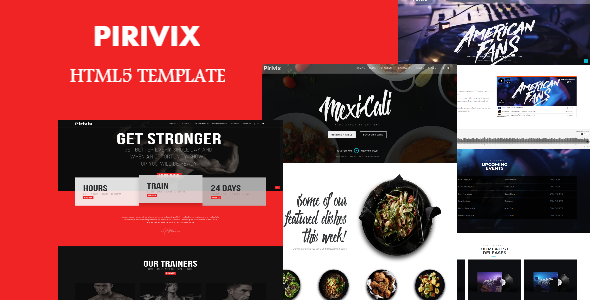 Pirivix -  Responsive HTML5 Template