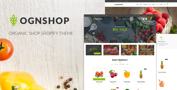 Ognshop - Organic Food & Health Products Shopify Theme