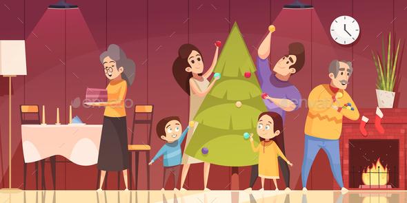 Christmas Cartoon Illustration