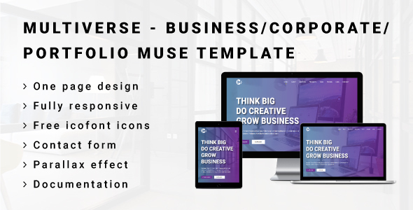 MULTIVERSE - Multipurpose Business/Corporate/Portfolio Muse Template