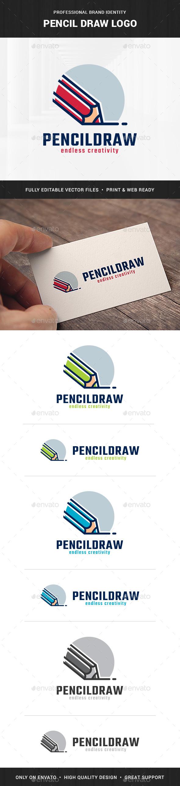 Pencil Draw Logo Template