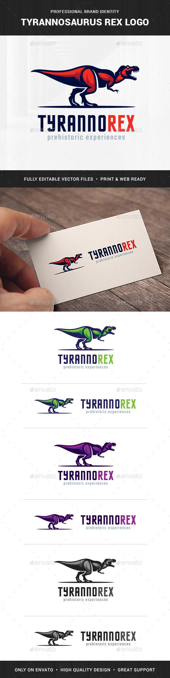 Tyrannosaurus Rex Logo Template