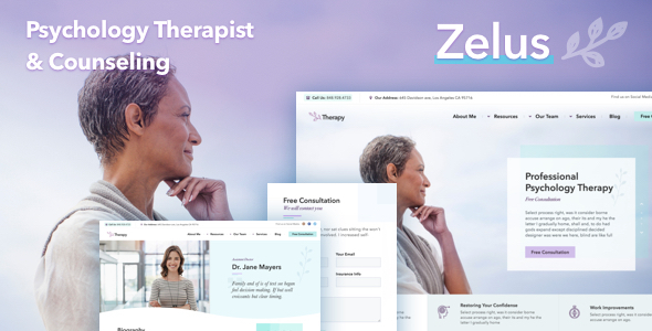 Zelus - WordPress Theme for Psychology Counseling
