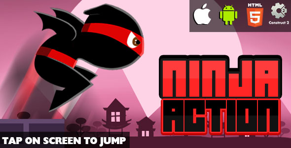 Ninja Action - HTML5 Game (CAPX)