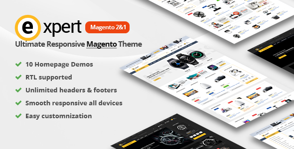 Expert | Premium Responsive Magento 2 and 1 ( RTL M 2 supported )