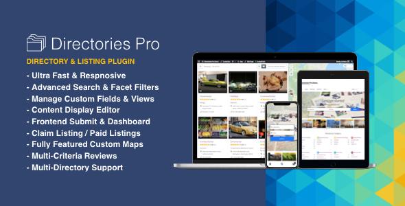 Directories Pro plugin for WordPressPrice : $39