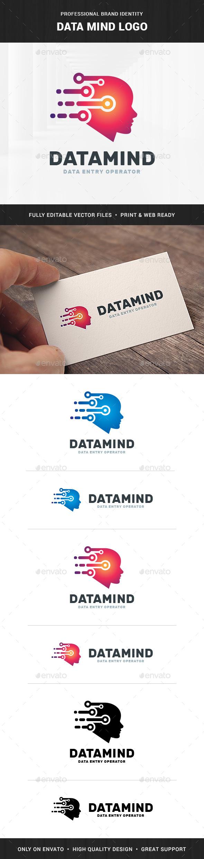 Data Mind Logo Template