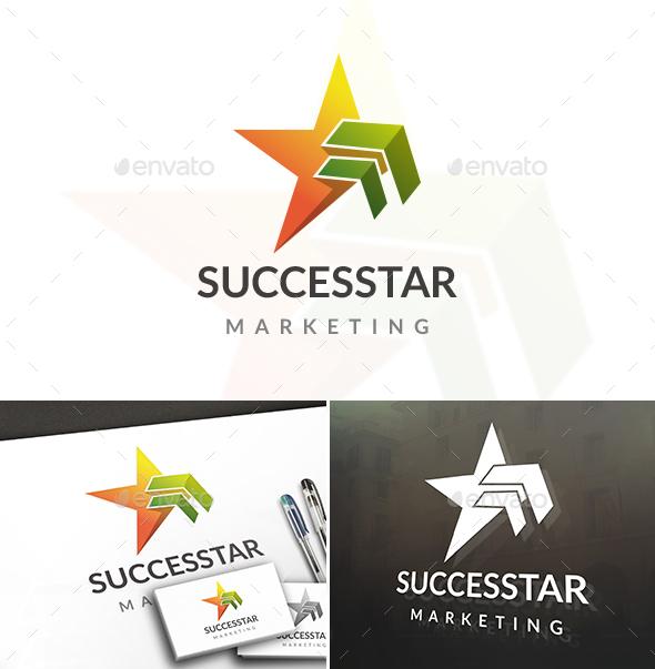 Success Arrow Star Logo