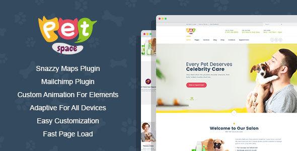 PetSpace - Animal Grooming WordPress Theme