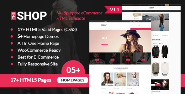 The Shop | Multipurpose e-commerce HTML Template