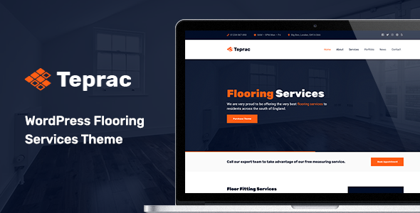 Teprac - WordPress Flooring Services Theme