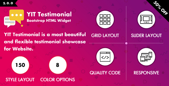 YIT Testimonial - Multiple Colors & Styles