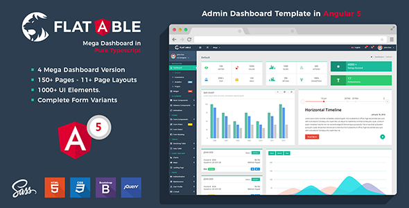 Flat Able - Angular 5 Admin Template